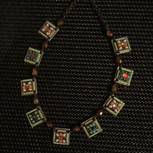 Jewelry - Square beaded necklace